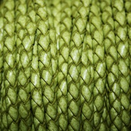 Trenzado 5mm verde oliva x metro