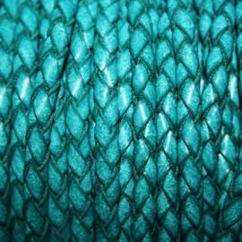 Trenzado 5mm turquesa verdoso x metro