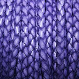Trenzado 5mm violeta x metro