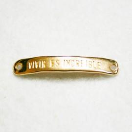 """Conector """"Vivir es increible"""" oro rosa"""