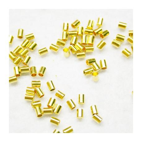 Tope cilíndro 2mm dorado