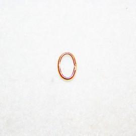 Anilla oval baño dorado 9x6.5mm
