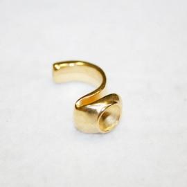 Medio anillo con hueco para cristal de 8,16mm dorado