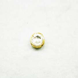 Cristal pequeño dorado