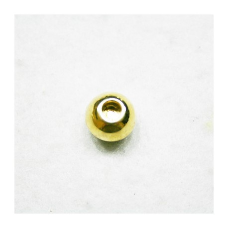 Cierre imán bola dorada con caja de 4,5mm