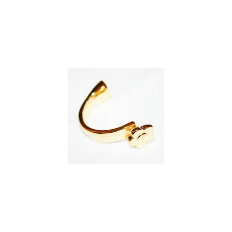 Media pulsera dorada flor caja de 10x2.5mm