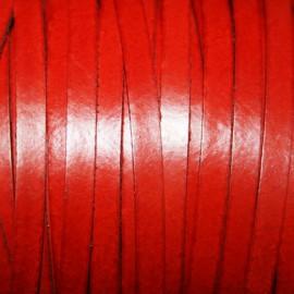 Cuero sintético plano 5mm rojo