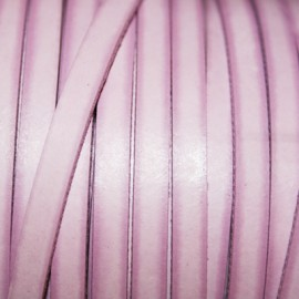 Cuero sintético plano 5mm rosa