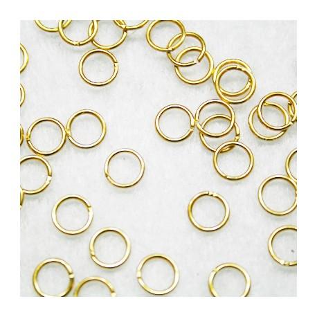 100 anillas 7mm doradas oferta