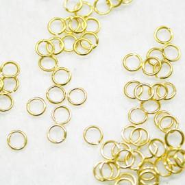 Anillas de 5,5mm dorado x 100 unidades