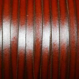 Cuero sintético plano 5mm marron coñac