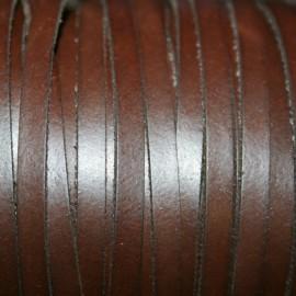 Cuero sintético plano 5mm marron