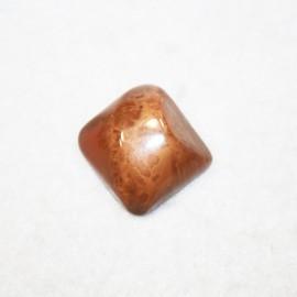 Resina cuadrada grande marrón