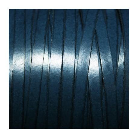 Cuero sintético plano 5mm azul marino