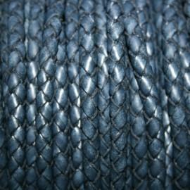 Trenzado 5mm azul marino x metro