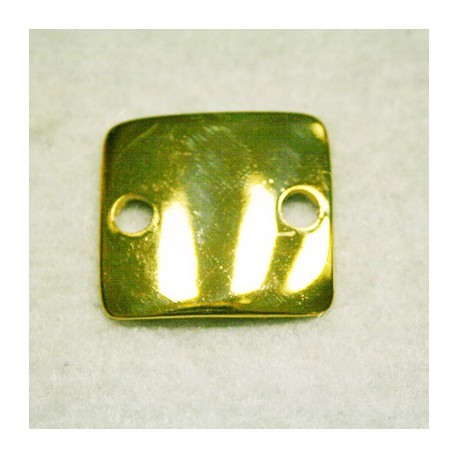 Chapa cuadrada dorada
