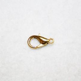 Mosquetón dorado 14mm