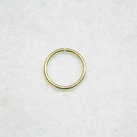 Anilla dorada grande de 14mm