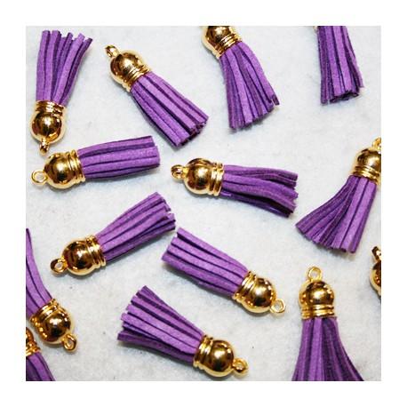 Pompón antelina violeta