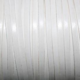 Cuero sintético plano 3mm blanco