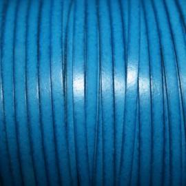 Cuero sintético plano 3mm azul