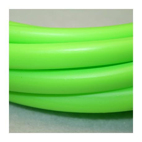 Caucho regaliz 10x7mm verde fluor
