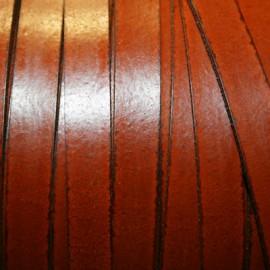 Cuero sintético plano 10mm marrón coñac