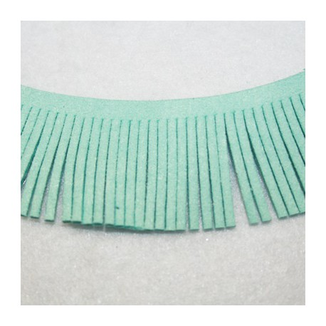 Cinta de antelina con flecos turquesa verdoso