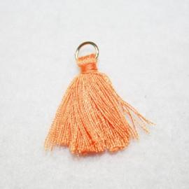 Borla o pompón con anilla naranja