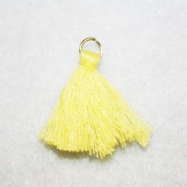 Borla o pompón con anilla amarillo