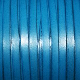 Cuero sintético plano  5mm azul