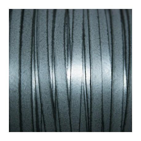 Cuero sintético plano 5mm gris