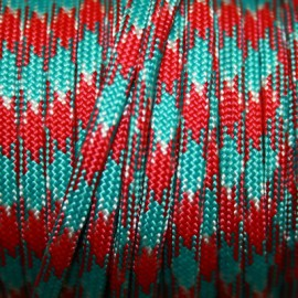 Paracord 5mm plano rojo