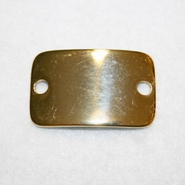 Chapa rectangular dorada