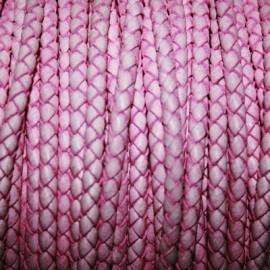 Trenzado 5mm rosa x cm