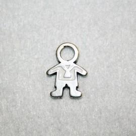 Niño esmaltado blanco