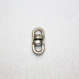 Anilla movible doble bañada en plata