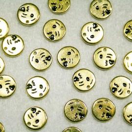 Emoticono Nº7 dorado