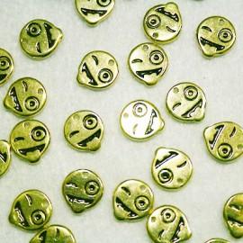 Emoticono Nº6 dorado