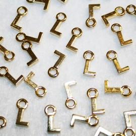 Letra L dorada