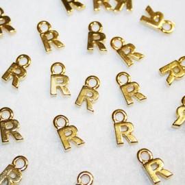 Letra R dorada