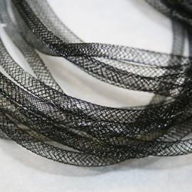 Malla tubular negra de 4mm