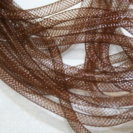 Malla tubular marron de 4mm