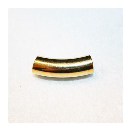 Tubo paso 5mm, corto dorado