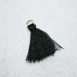 Borla o pompón con anilla negro