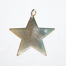 Estrella plana dorada
