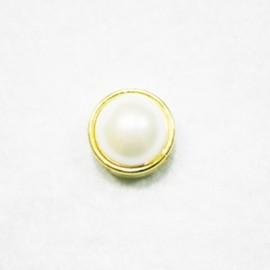 Perla pasante con paso de 10mm dorada