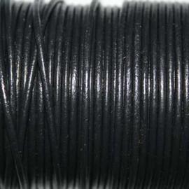 Cuero redondo 2mm negro