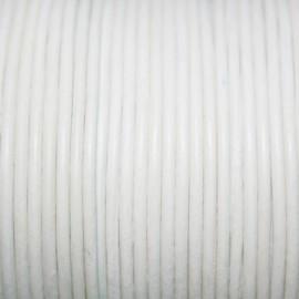 Cuero redondo 2mm blanco