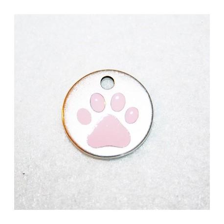 Huella perro c/esmalte rosa
